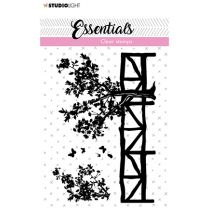 Clear stamps A7 silhouette Fence/trees nr. 25