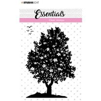 Clear stamps A7 silhouette Flower bush nr. 26