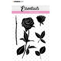 Clear stamps A7 silhouette Roses nr. 28