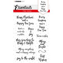 Clear stamps A6 Christmas essentials 2 - Merry christmas ENG nr. 88