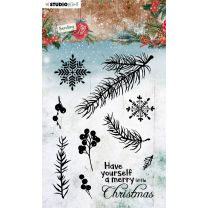 Clear stamps A6 Sending joy - Branches/berries nr. 51
