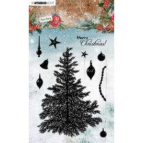 Clear stamps A6 Sending joy - Build a christmas tree nr. 53
