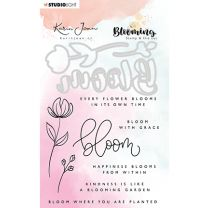 Clear stamp & Die cut A6 - Karin Joan Blooming collection nr.01