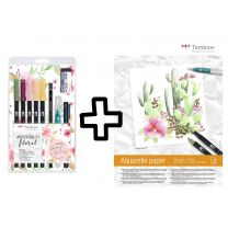 Tombow watercoloring set floral