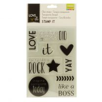 Love It clear stamps A5 love