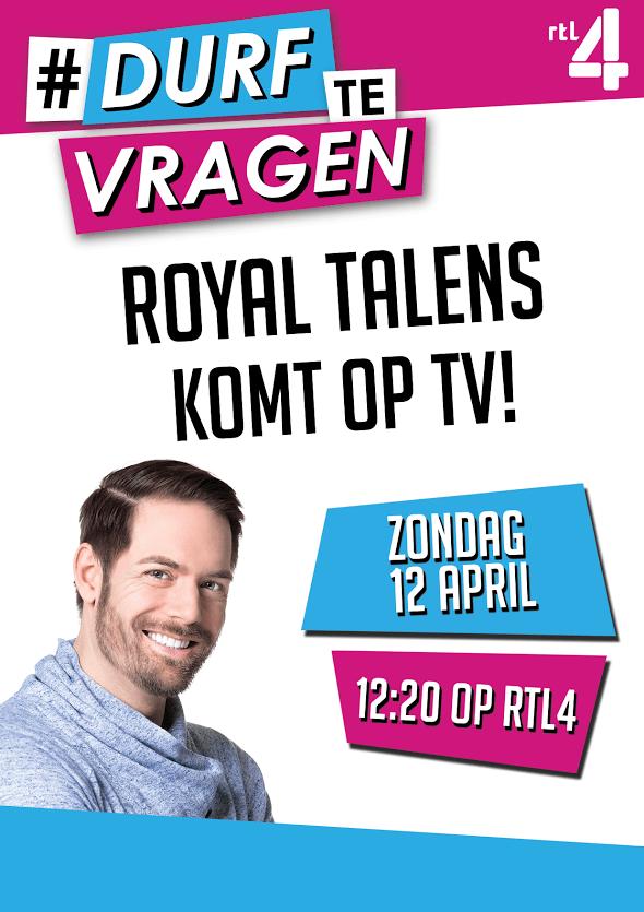 Royal Talens zondag 12 april op TV