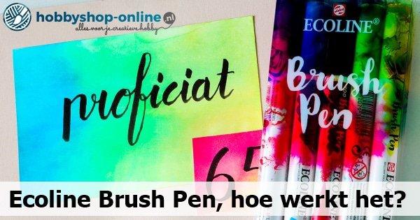 Ecoline Brush Pen, hoe werkt het?
